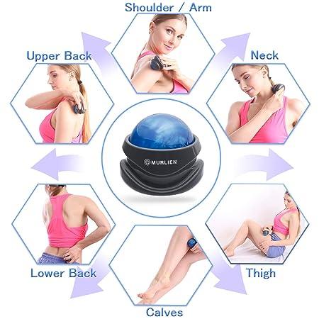 Milklion 360 ° Rotación Masaje Roller, Relajación Muscular Masaje Bolas Massager (Azul/Gris): Amazon.es: Deportes y aire libre