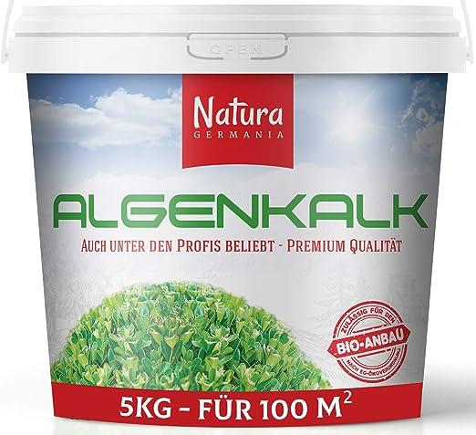 Natura Germania Polvo de Cal de Algas 100% Pura Cal de Algas de Primera Calidad (5 KG) | Regenera y Fortalece los Bojes - Fertilizante para Bojes: Amazon.es: Jardín