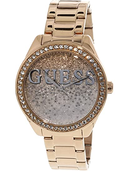 a1af617d6263 Guess Reloj Guess Glitter Girl Oro Rosado Para Dama Brazalete De Acero  Inoxidable Reloj para Mujer