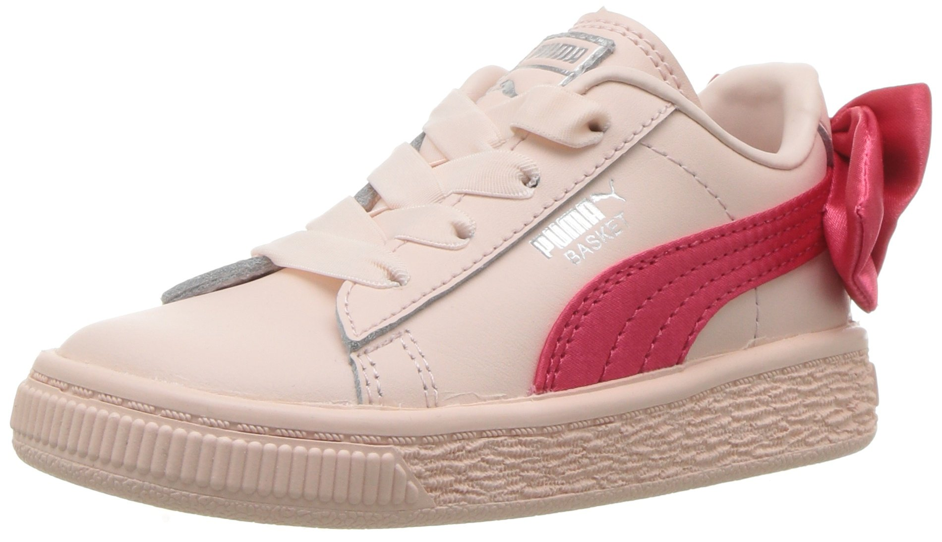 PUMA Baby Basket Bow Slip On Sneaker