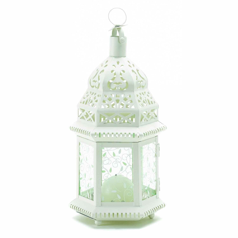 StealStreet SS-KHD-38465 12 White Moroccan Candle Lantern Smart Living