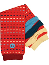 BabyLegs Robin Leg Warmers, Rost/Blue/Cream, One Size Fits Most