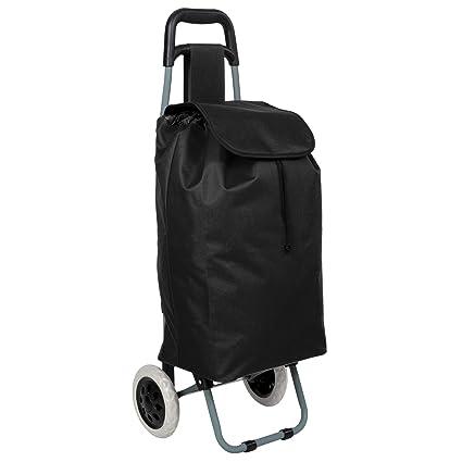 TecTake Carro carrito de la compra plegable con ruedas cesta con bolsillo extra - disponible en