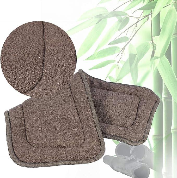 S Nouveau 2 Tailles Lavable 5 Couches Bambou Charbon De Tissu Nappy Liner Super Absorbant Adulte Couche Insert