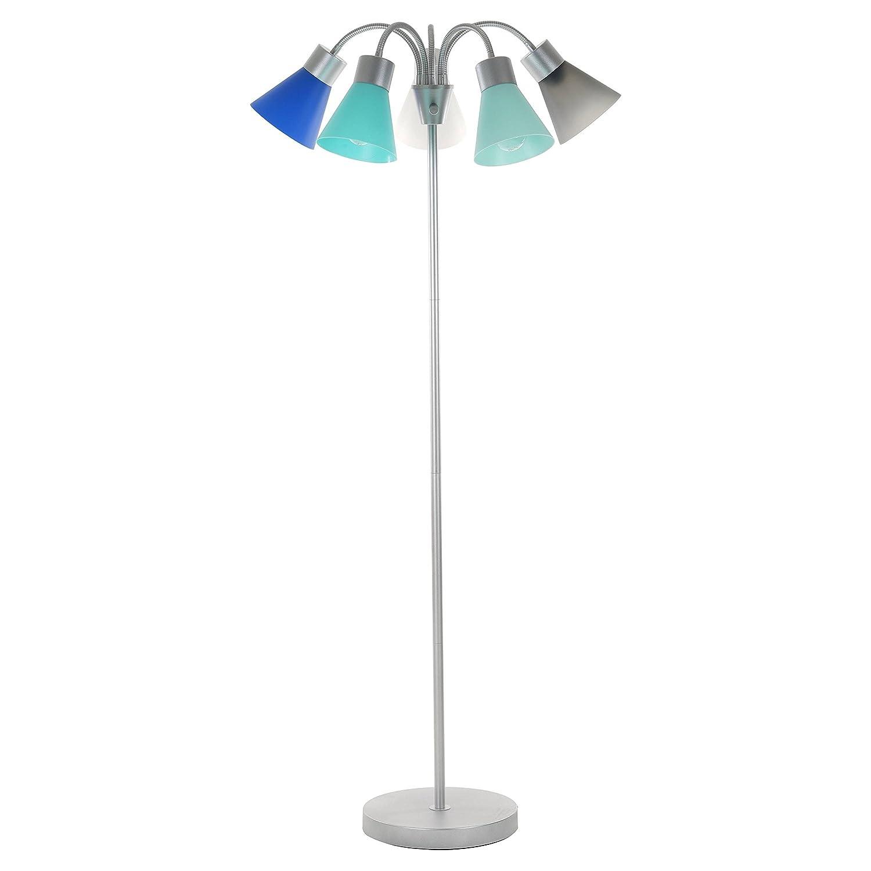 Amazon white floor lamps lamps shades tools - Room Essentials 5 Head Floor Lamp Blue