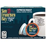 San Francisco Bay OneCup, Espresso Roast, 12 Count- Single Serve Coffee, Compatible with Keurig K-cup Brewers
