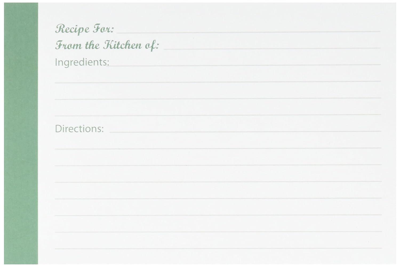 Darice 1219-518 40 Count Recipe Cards 1219-523