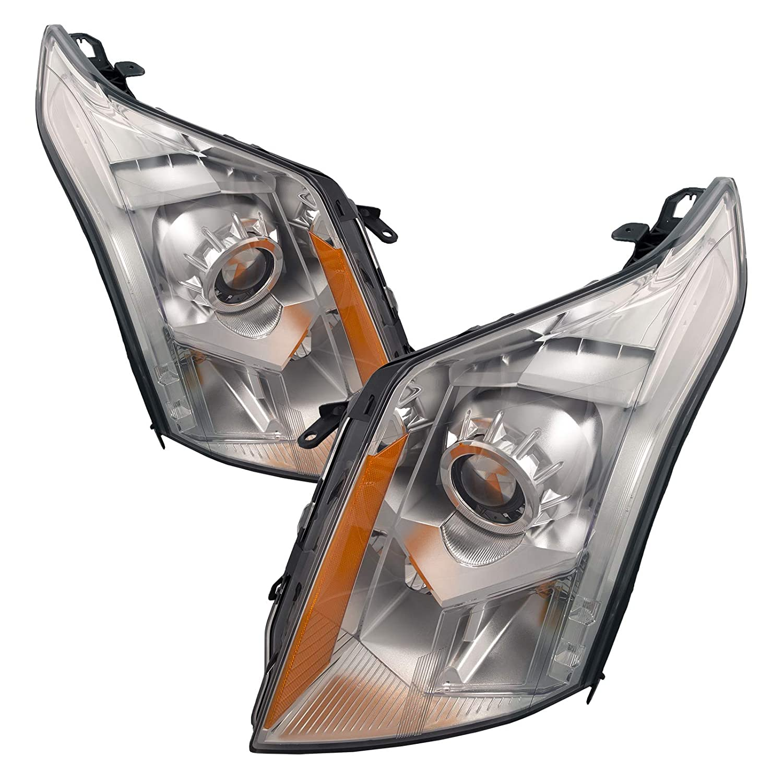 PERDE - Juego de faros delanteros halógenos para Cadillac SRX ...