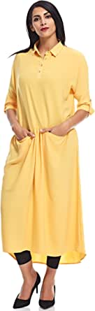 Workwear Shift Dress For Women