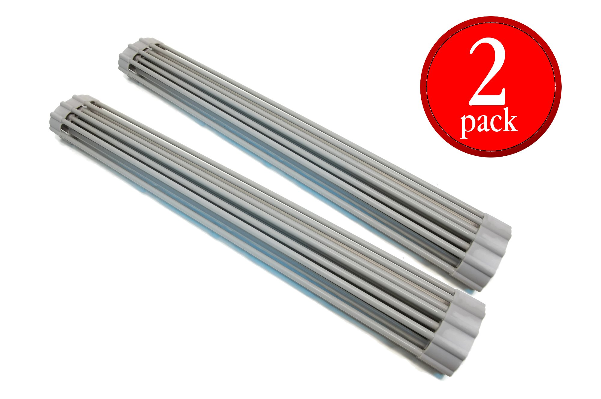 Eretz (2pc) Premium Silicone Coated Roll Up Over Sink Drain Rack (Grey)