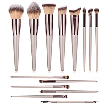 4cd73cd61740 Amazon.com: Makeup Brushes Set 14Pcs Professional Kabuki Brush set ...