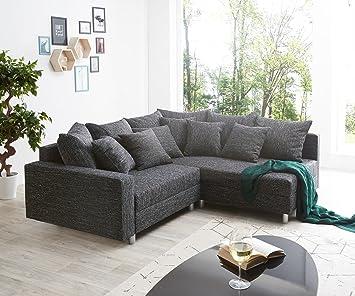 DeLife Esquina Couch Clovis Negro Estructura plástico ...