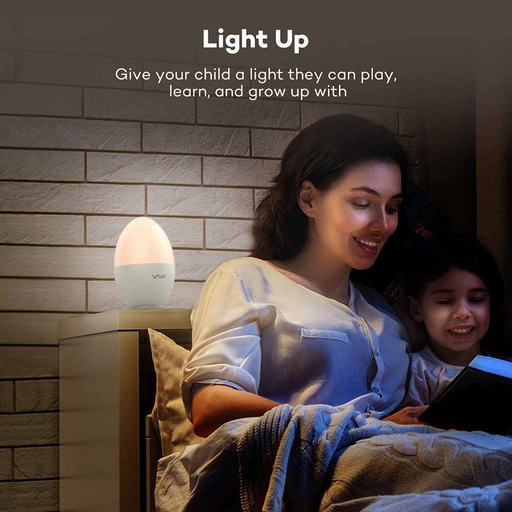 VAVA Night Lights for Kids, LED Nursery Lamp with Free Stickers, Safe ABS+PP, Adjustable Brightness Warm White/Cool White, 80 Hours Runtime by VAVA (Image #7)