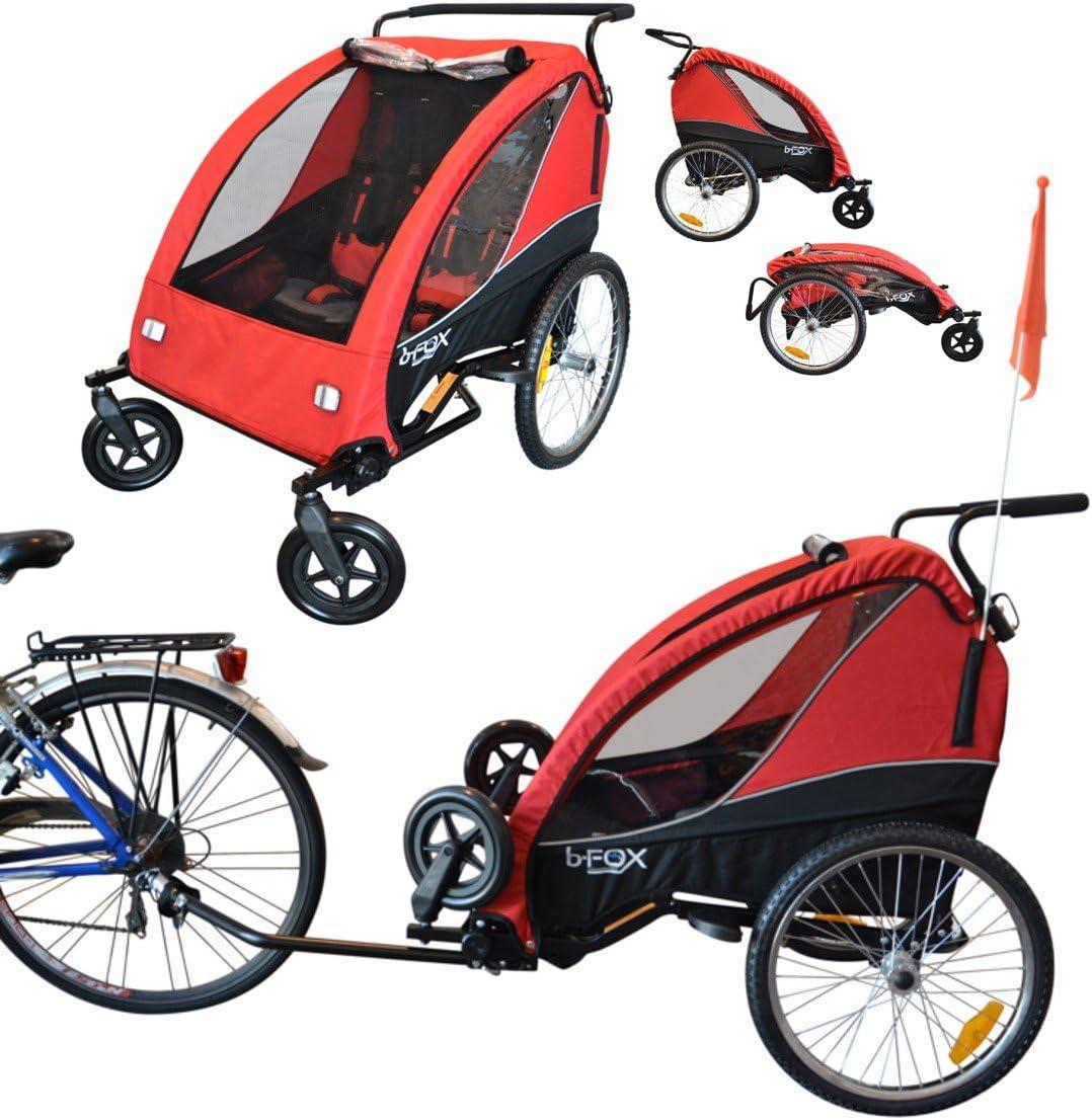 b-FOX Papilioshop - Remolque Plegable con Carrito de Bicicleta ...