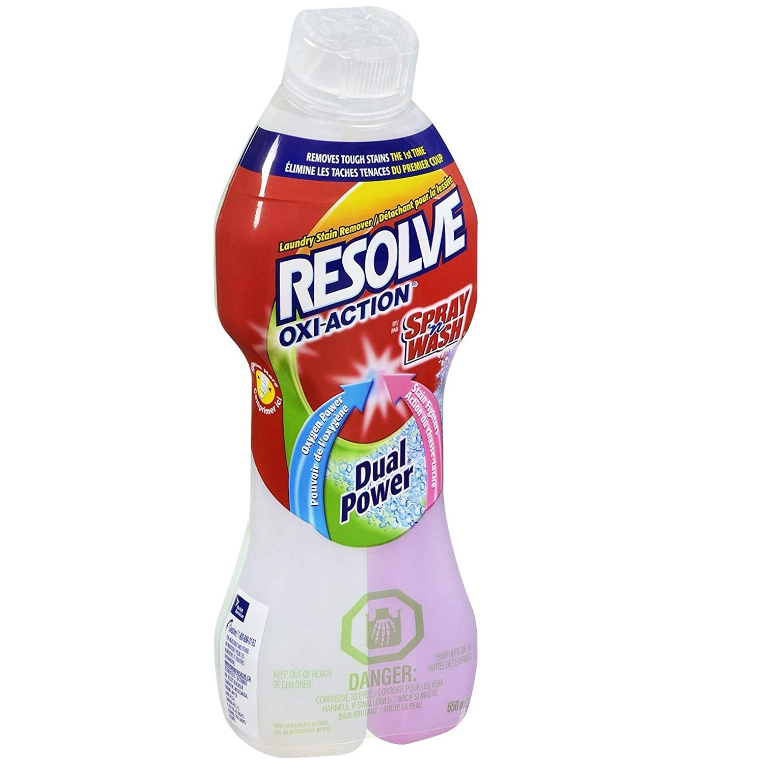 Resolve Oxi-Action Dual Power Pre Treatment Stain Remover 22 OZ