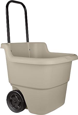 Suncast 2-Wheel Resin Multi-Purpose Wheelbarrow Cart - Best Price Wheelbarrow
