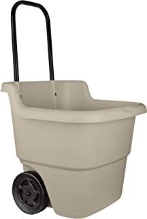product image for Suncast Resin 15.5 Gallon Multi-Purpose Cart with Wheels, Brown