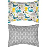 ALVABABY Kids Toddler Pillowcase 100% Organic Cotton Soft and Light Square 2 Pieces of Pillowcase Fits Size 14x20 Inch Baby B