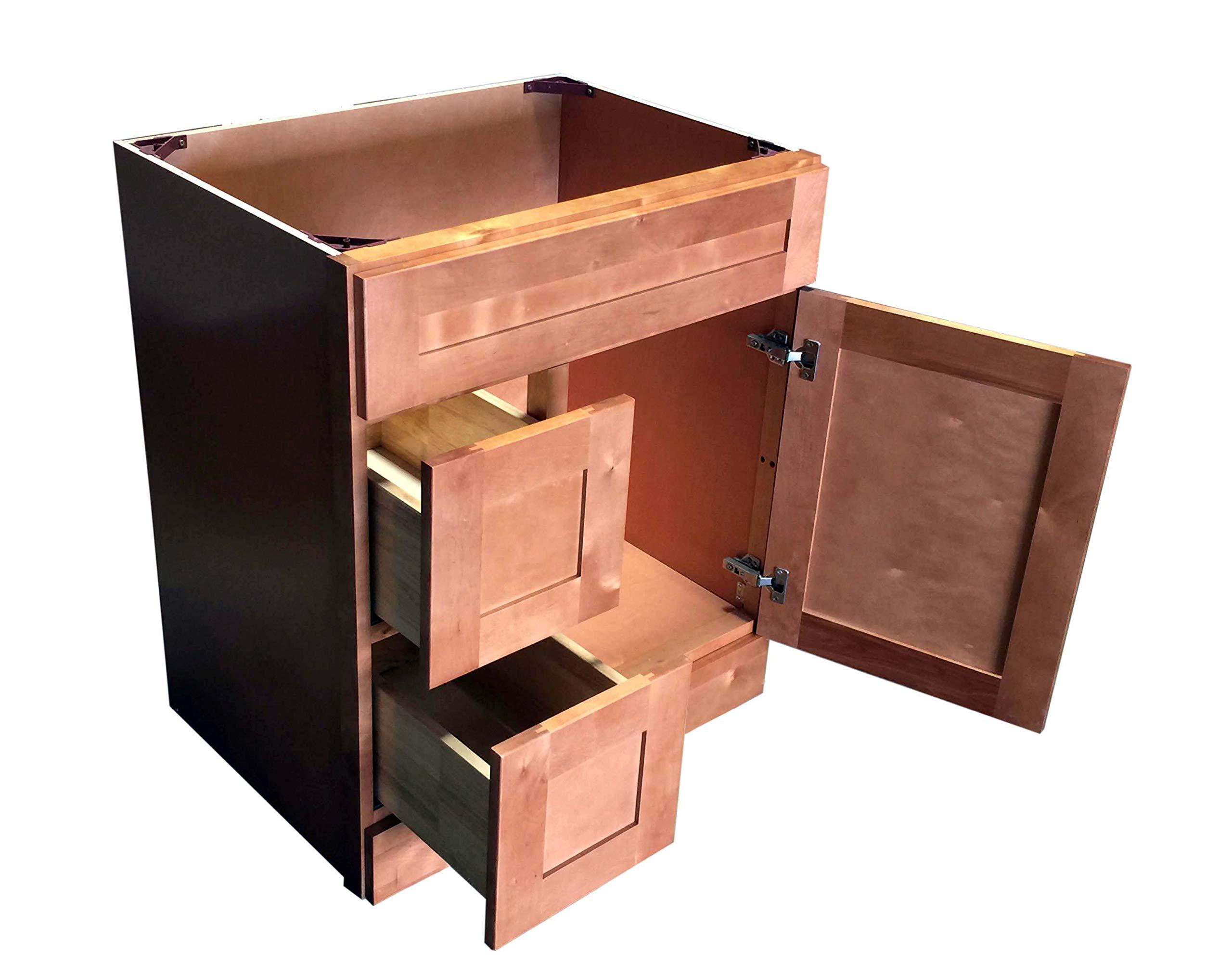 New Maple Shaker Single-sink Bathroom Vanity Base Cabinet ...