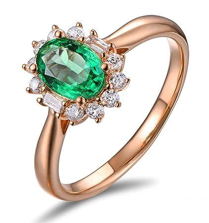 fffa67747171 Epinki Oro 18 Quilates Anillos para Mujeres óvalo Flores Anillo de Diamante  Anillos Aplicaciones Rose Oro