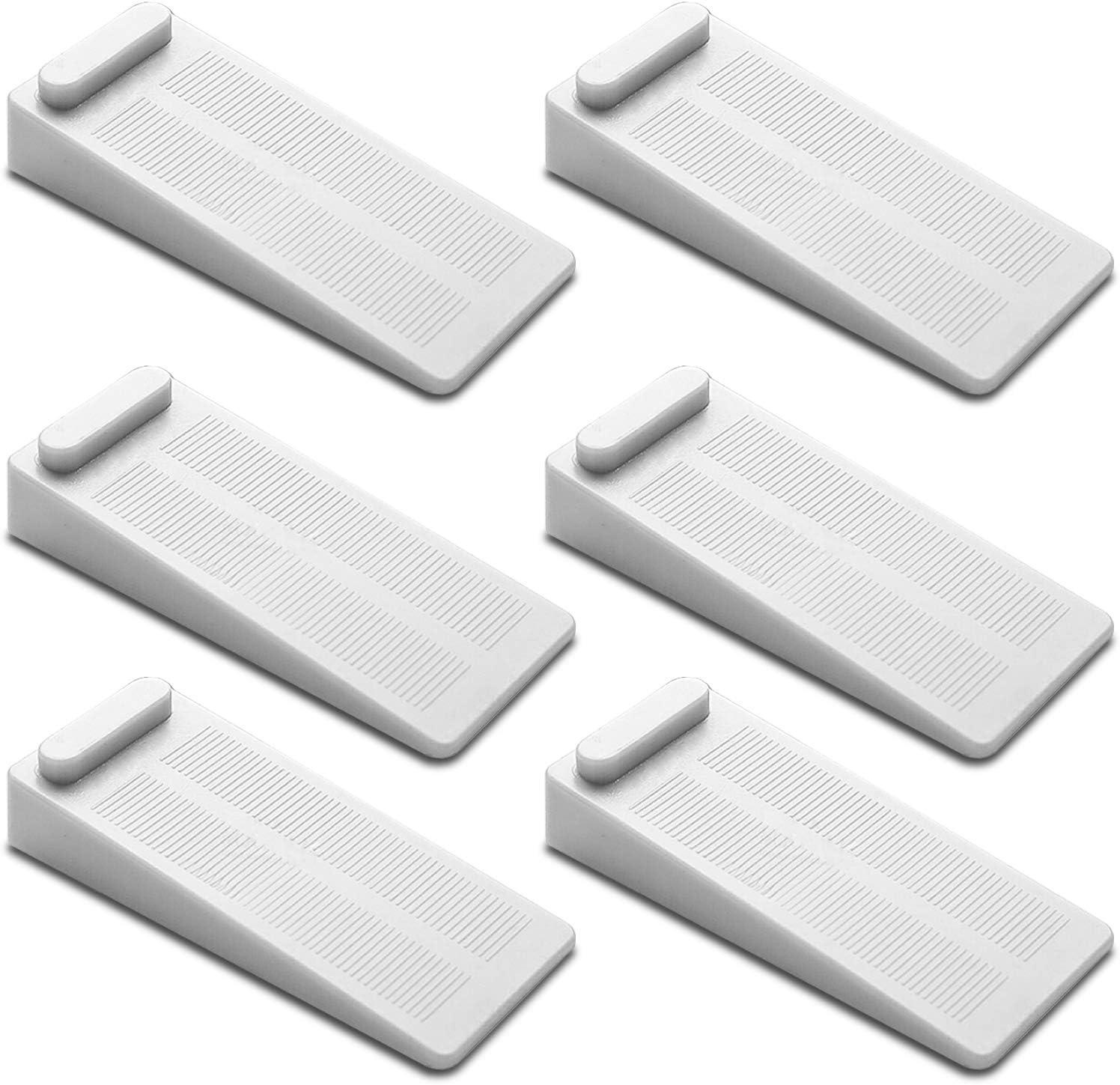 FEIGO topes de puerta de goma cuñas antideslizantes ajustables en altura, antideslizantes en losetas / parquet / alfombras, tope de puerta para puerta de balcón, baño, habitación infantil- 6 piezas
