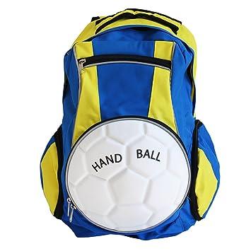 diapolo balonmano Mochila Bolso deportivo (Varios Colores Composición, royalblau-gelb: Amazon.es: Deportes y aire libre