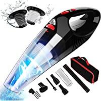 Aspirador de Mano RIKIN 8500PA 120W Aspiradora de Coche Sin Cable Carga Rápida Potente Filtro de Acero Inoxidable…