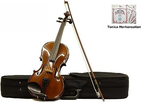 4//4 vollmassive Geige mit Ahorn Korpus mit Koffer und Bogen