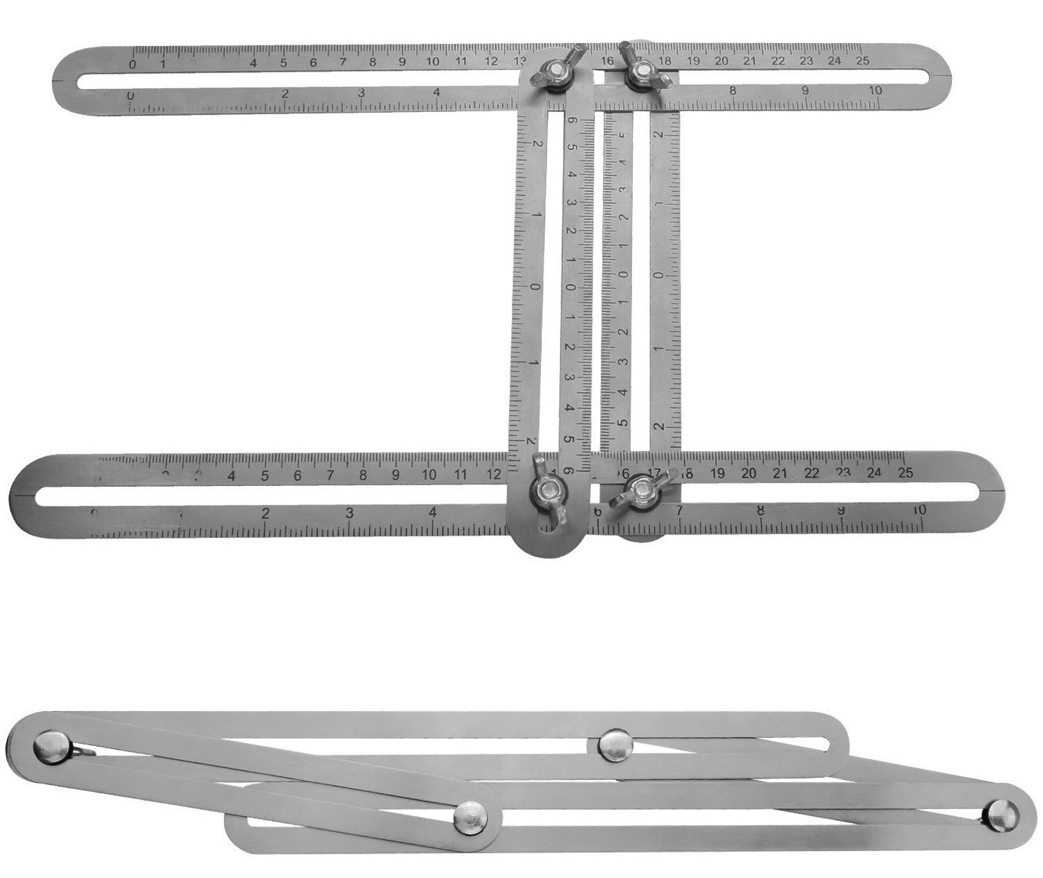 SixSupply Multi Angle Measuring Ruler |Features high-grade stainless steel | Ultimate 836 Angleizer Template Tool / Layout Tool Measurement For Handymen, Builders, Craftsmen, DIY-ers by SixSupply