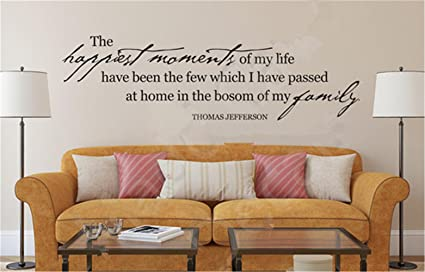Amazoncom Aflmji Wall Sticker Inspirational Quotes The Happiest