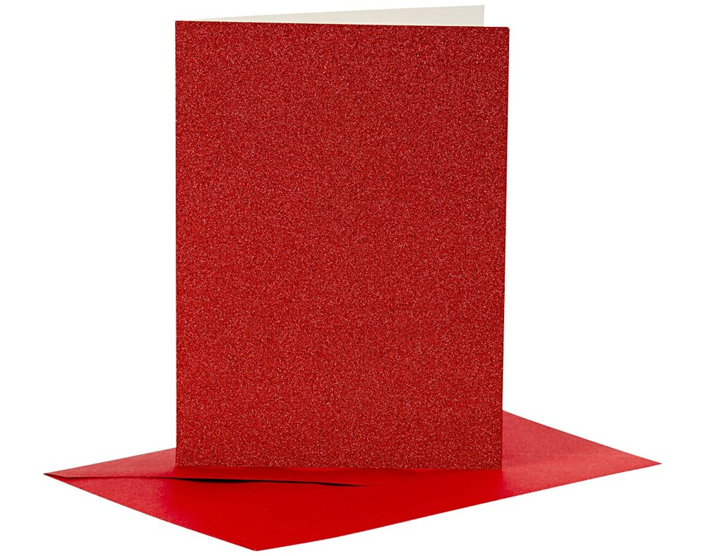 50 Red /& Green 15cm Square Cards and Envelopes for Card Making Crafts