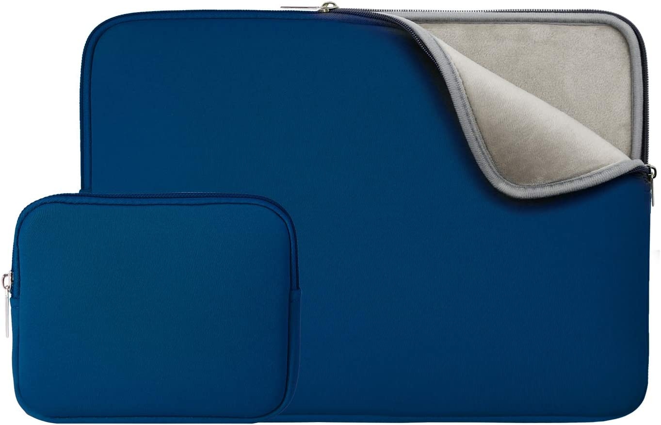 RAINYEAR 13 Inch Laptop Sleeve Case Bag with Accessories Pouch,Specially Compatible with 2019 2020 New Model 13.3 MacBook Air/Pro/TouchBar A1932 A1706 A1708 A2159 A2179(Navy Blue,Upgraded Version)