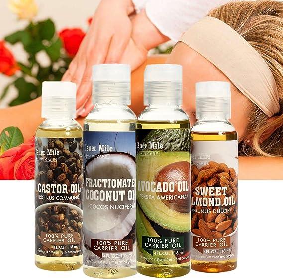 Isner - Juego de aceites para masaje corporal (aceite de aguacate ...