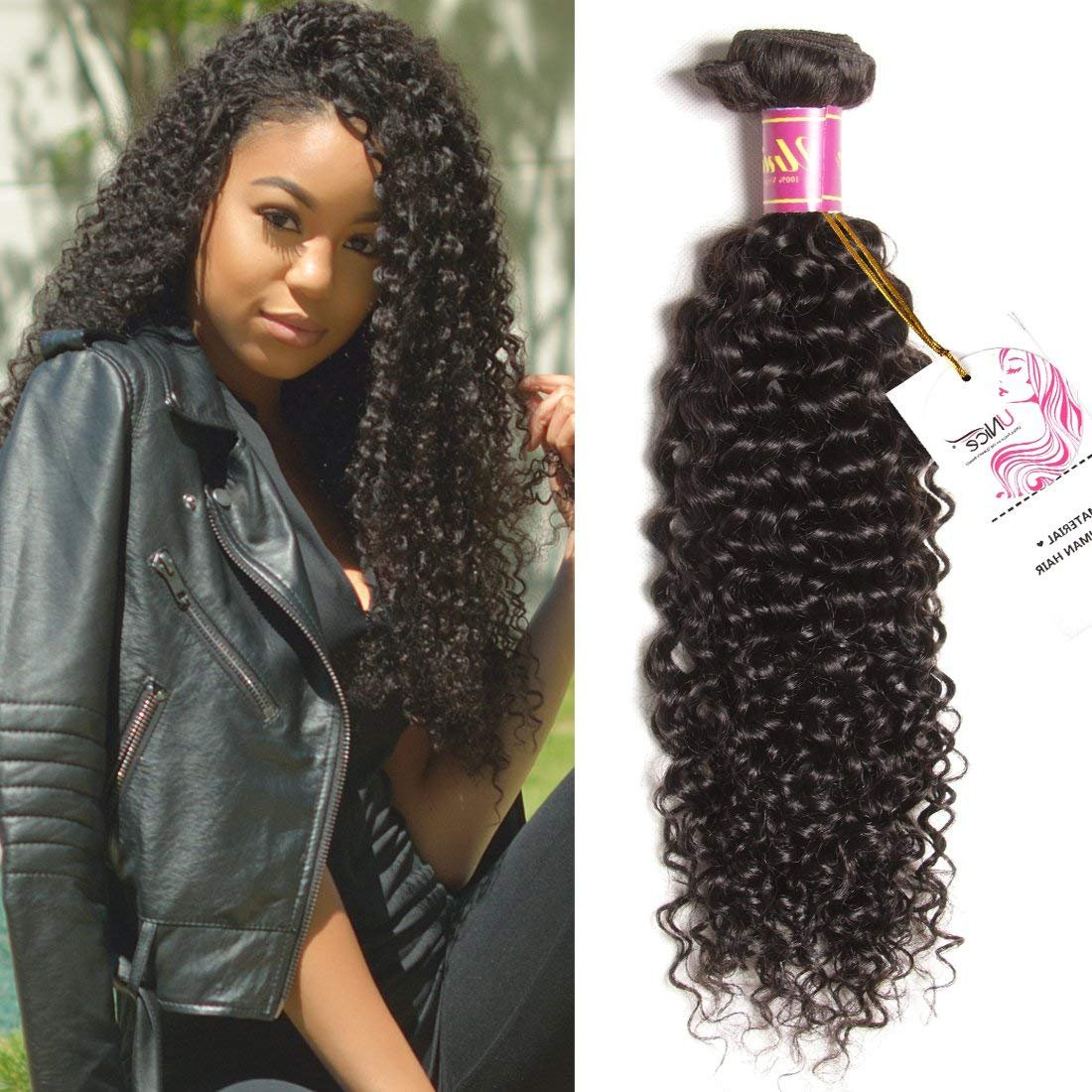 Amazon Unice Hair 3 Bundles Brazilian Curly Virgin Hair Weave