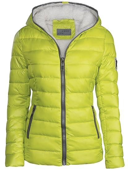 Chaqueta de invierno de mujer forrada corta acolchada de plumón con capucha, chaqueta de esquí térmica, nueva: Amazon.es: Ropa y accesorios