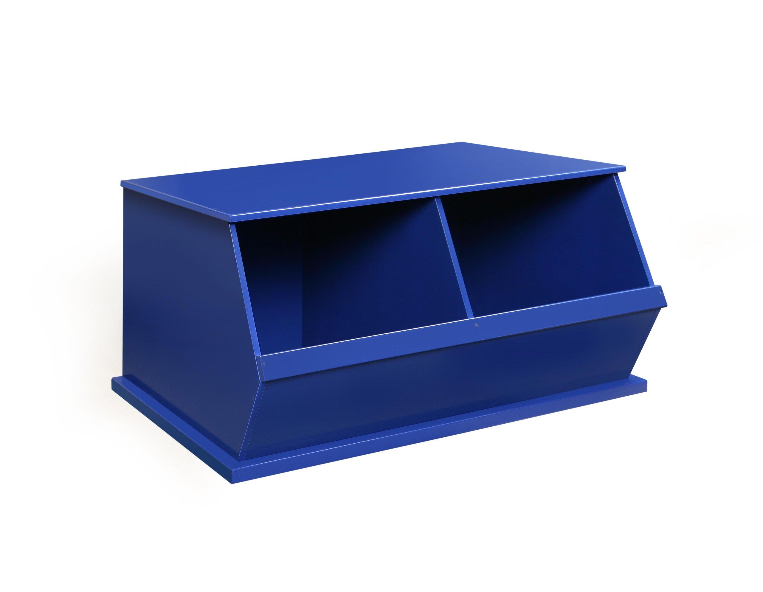 Badger Basket Two Bin Storage Cubby, Blue