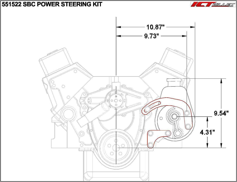 chevrolet 350 serpentine belt diagrams amazon com sbc power steering pump bracket billet adjustable lwp  sbc power steering pump bracket billet
