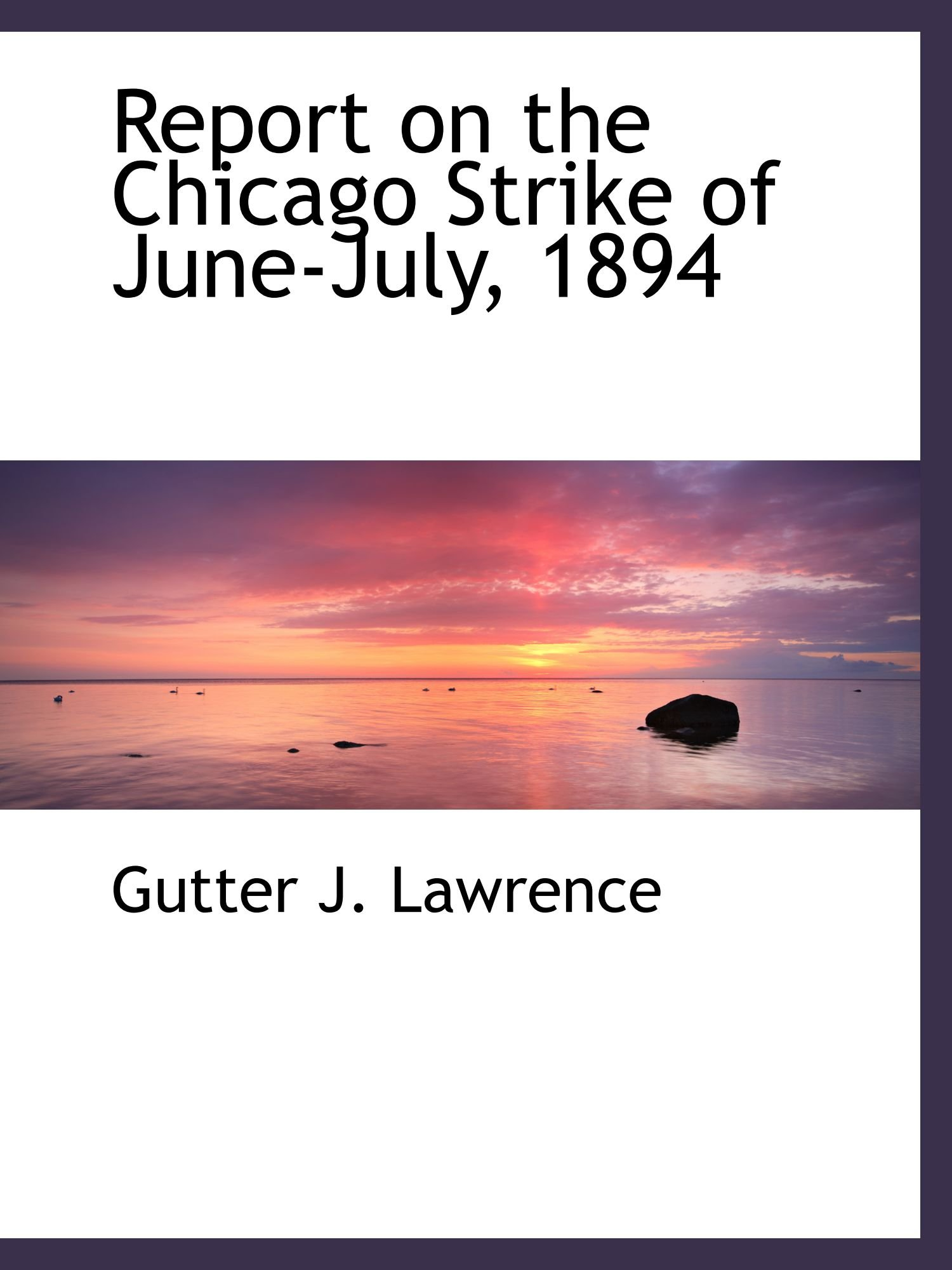 Download Report on the Chicago Strike of June-July, 1894 pdf epub