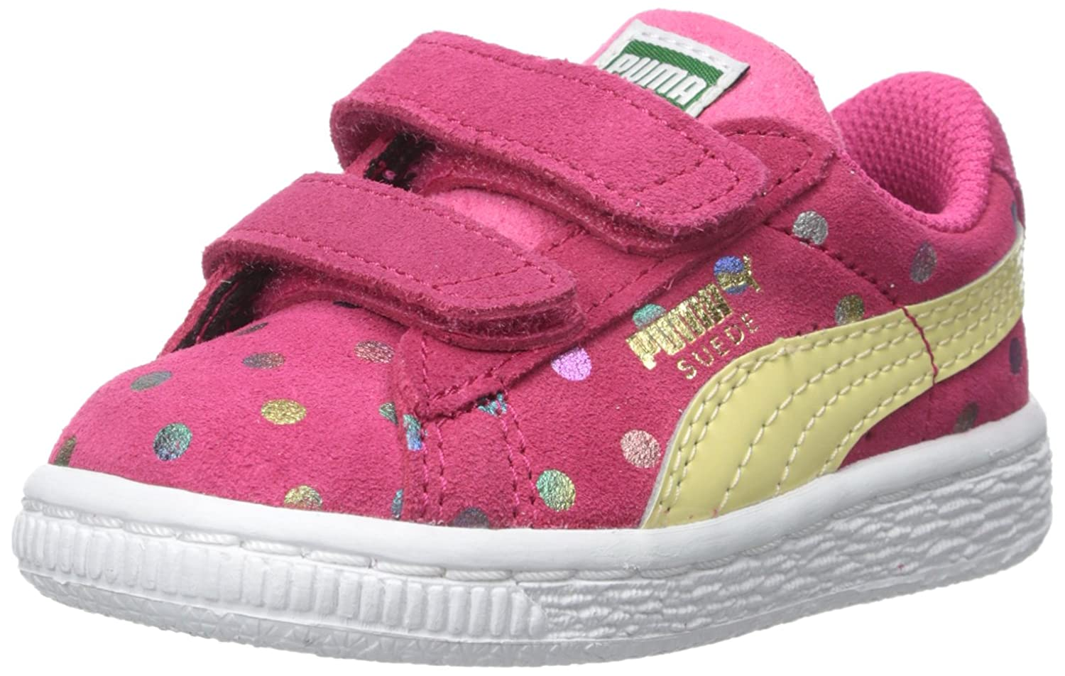 Infant//Toddler//Little Kid PUMA Suede Dotfetti V Kids Slip-On Shoe