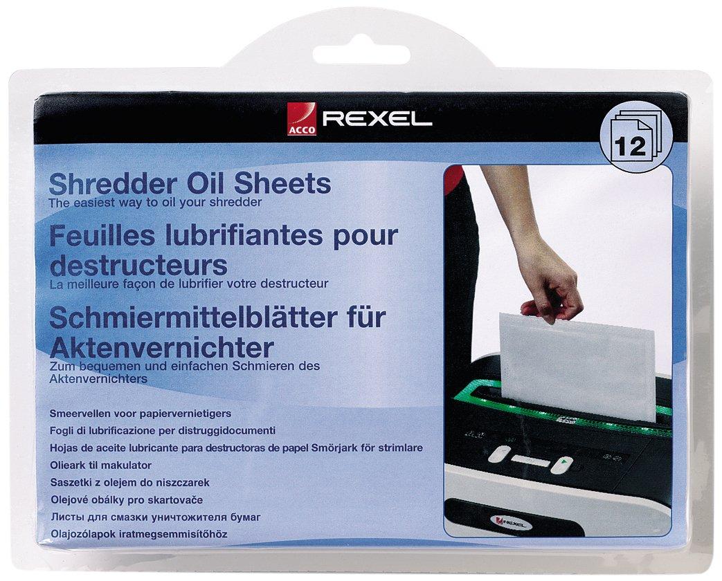 Rexel Ölblätter für Aktenvernichter, 20 Stück, A5 Format, Zur Aktenvernichter-Wartung, 2101949 20 Stück 492762