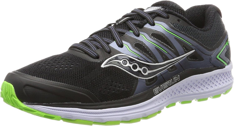 Saucony Omni 16, Zapatillas de Running para Hombre, Negro (Black/Slime), 41 EU: Amazon.es: Zapatos y complementos