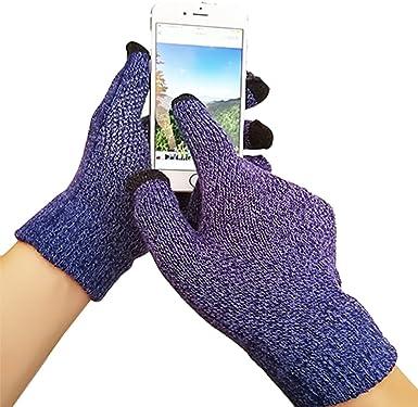 iEverest Unisex Guantes para pantalla táctil Guantes antideslizante Guantes de amante gruesos smartphone guantes para pantalla táctil para Hombre/Mujer(Azul real): Amazon.es: Ropa y accesorios