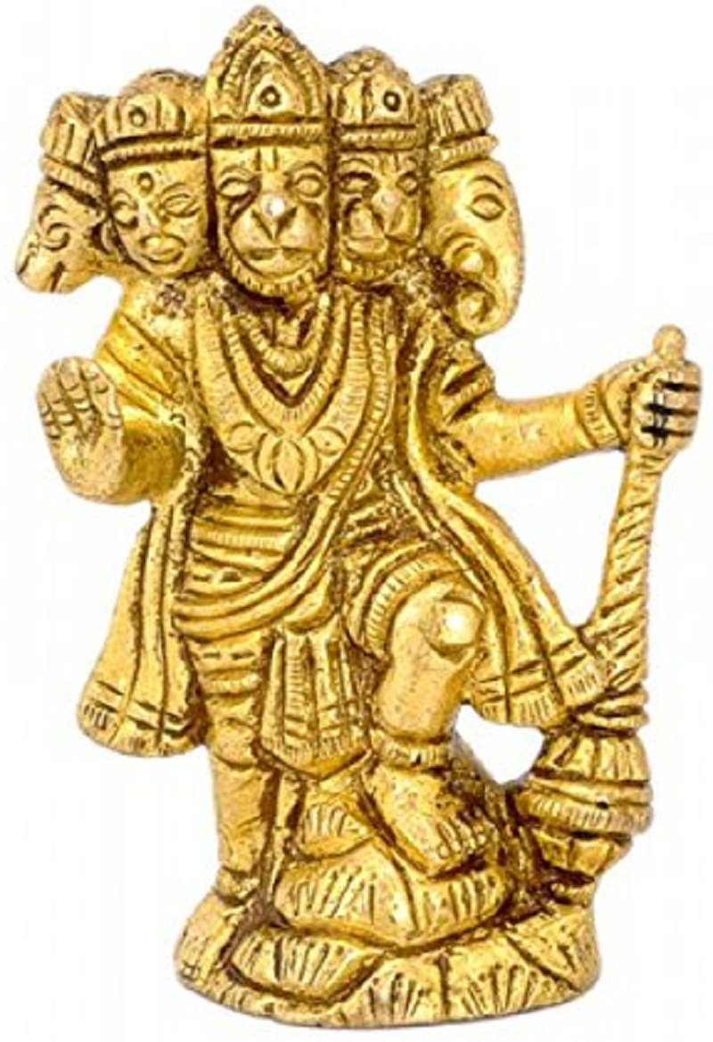 Mohan Jodero Elegant Brass Lord Panchmukhi Hanuman Statue (Standard Size)