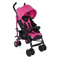 Chicco Echo - Silla de paseo, ligera y compacta, soporta hasta 22kg, color gris, rosa, azul o roja