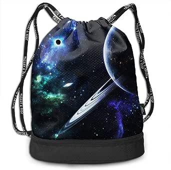 Amazon.com: Galactic Starry Sky Drawstring Backpack Sports