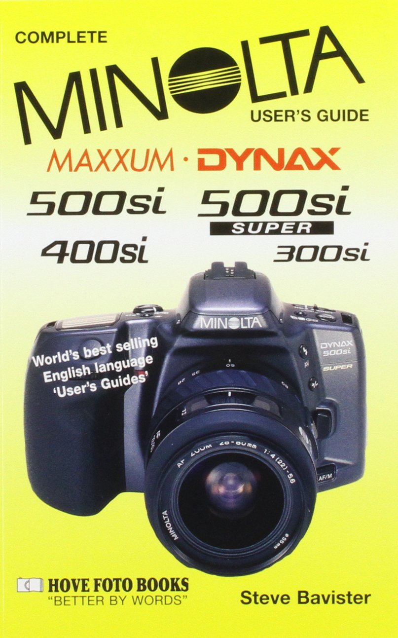 buy minolta maxxum dynax 500si super including 300si user s guide rh amazon in Konica Minolta Maxxum 5D Minolta Maxxum GT
