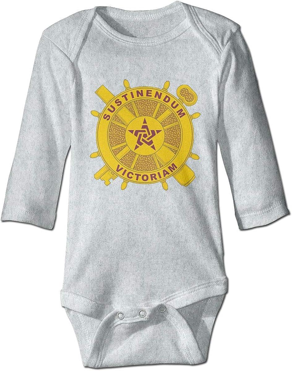 Marsherun Newborn Baby Boys Girls Sustinendum Victoriam Long-Sleeve Bodysuits Playsuits