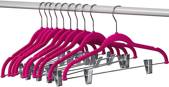 Amazon.com: Home-it 10 ganchos para ropa con pinzas, ganchos ...
