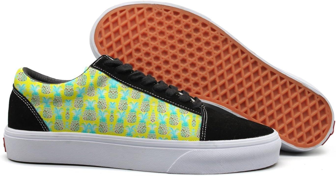 seventtynine Pineapple Pattern Women Casual Sneaker Lace Up Shoe