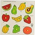 Skillofun Wooden King Size Identification Tray (Fruits)